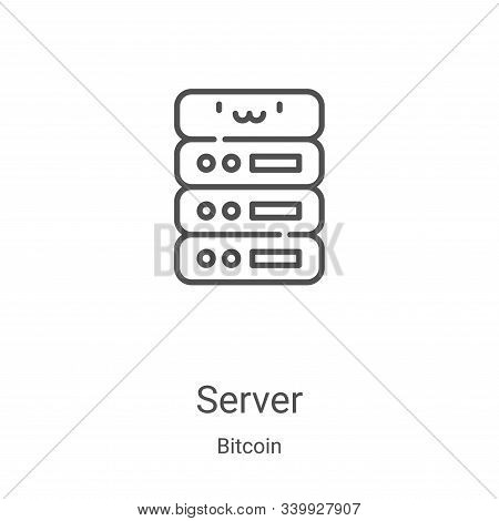 server icon isolated on white background from bitcoin collection. server icon trendy and modern serv