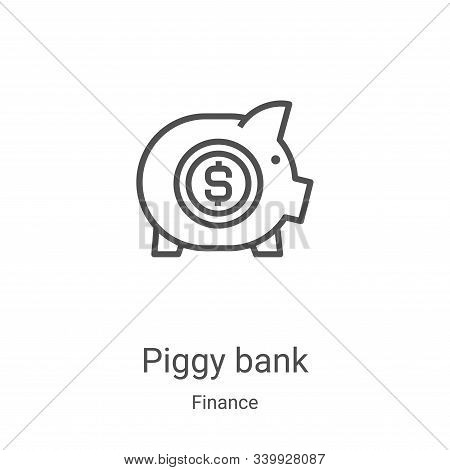 piggy bank icon isolated on white background from finance collection. piggy bank icon trendy and mod
