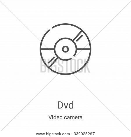 dvd icon isolated on white background from video camera collection. dvd icon trendy and modern dvd s