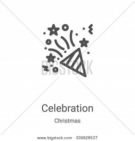 celebration icon isolated on white background from christmas collection. celebration icon trendy and