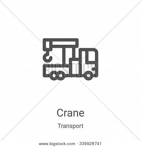 crane icon isolated on white background from transport collection. crane icon trendy and modern cran