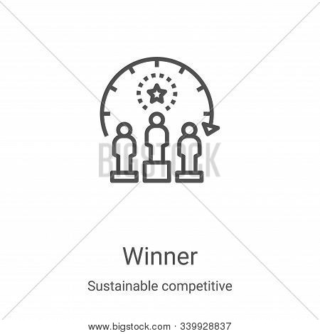 winner icon isolated on white background from sustainable competitive advantage collection. winner i