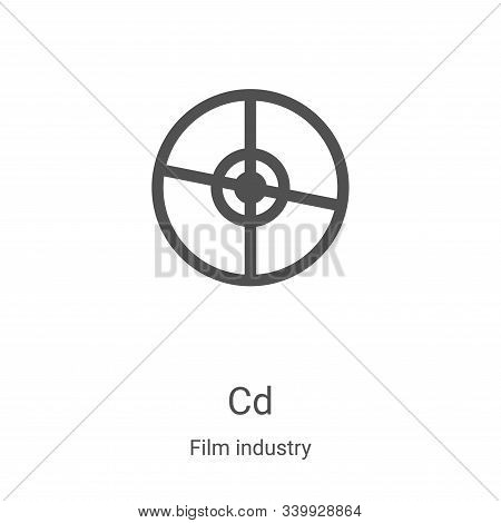 cd icon isolated on white background from film industry collection. cd icon trendy and modern cd sym