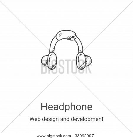 headphone icon isolated on white background from web design and development collection. headphone ic