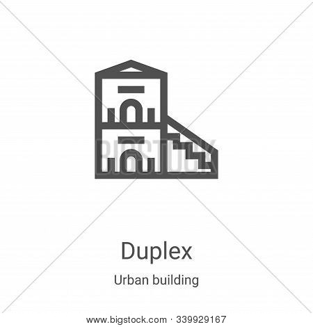 duplex icon isolated on white background from urban building collection. duplex icon trendy and mode