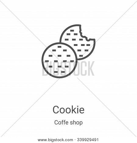 cookie icon isolated on white background from coffe shop collection. cookie icon trendy and modern c