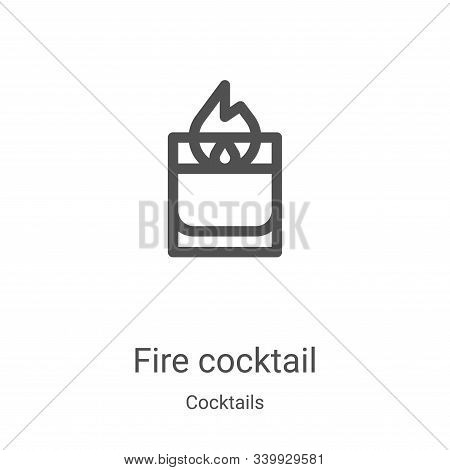 fire cocktail icon isolated on white background from cocktails collection. fire cocktail icon trendy