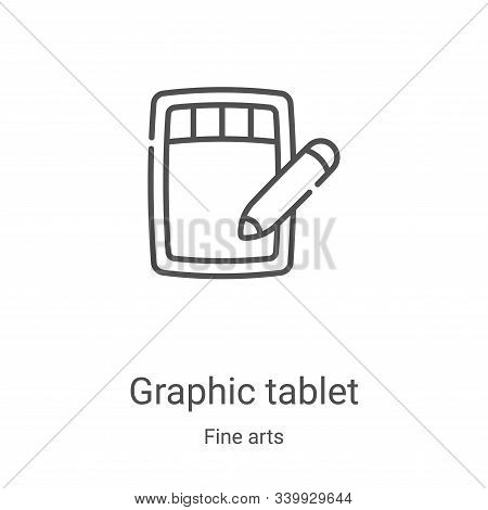 graphic tablet icon isolated on white background from fine arts collection. graphic tablet icon tren