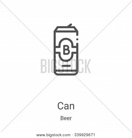 can icon isolated on white background from beer collection. can icon trendy and modern can symbol fo