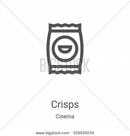 crisps icon isolated on white background from cinema collection. crisps icon trendy and modern crisp