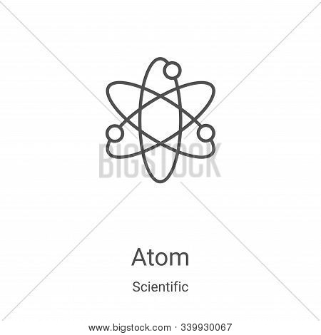 atom icon isolated on white background from scientific collection. atom icon trendy and modern atom