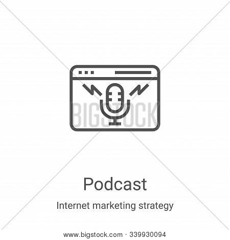 podcast icon isolated on white background from internet marketing strategy collection. podcast icon