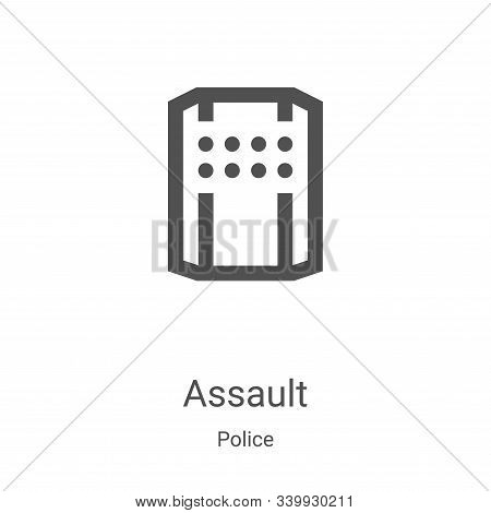 assault icon isolated on white background from police collection. assault icon trendy and modern ass