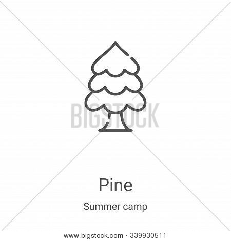 pine icon isolated on white background from summer camp collection. pine icon trendy and modern pine