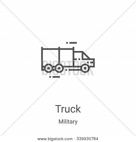 truck icon isolated on white background from military collection. truck icon trendy and modern truck