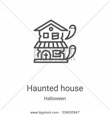 haunted house icon isolated on white background from halloween collection. haunted house icon trendy
