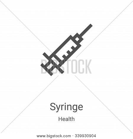 syringe icon isolated on white background from health collection. syringe icon trendy and modern syr