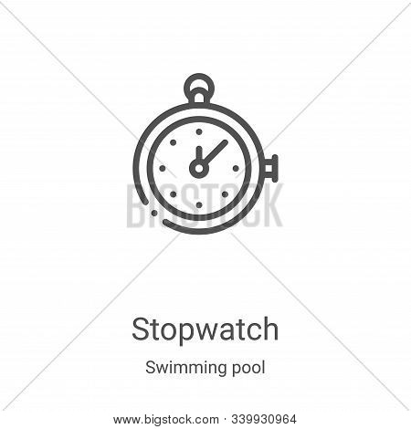 stopwatch icon isolated on white background from swimming pool collection. stopwatch icon trendy and