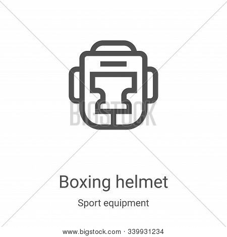 boxing helmet icon isolated on white background from sport equipment collection. boxing helmet icon