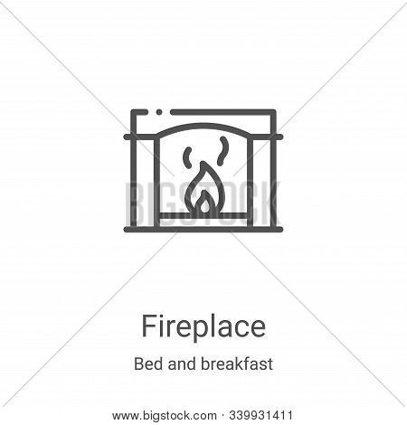 fireplace icon isolated on white background from bed and breakfast collection. fireplace icon trendy