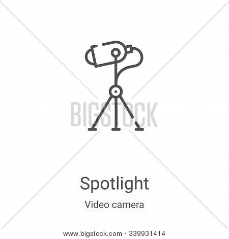 spotlight icon isolated on white background from video camera collection. spotlight icon trendy and