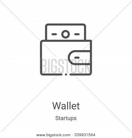wallet icon isolated on white background from startups collection. wallet icon trendy and modern wal