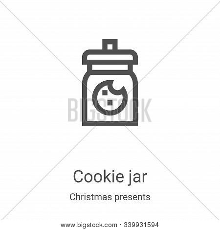 cookie jar icon isolated on white background from christmas presents collection. cookie jar icon tre