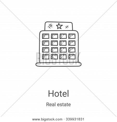 hotel icon isolated on white background from real estate collection. hotel icon trendy and modern ho