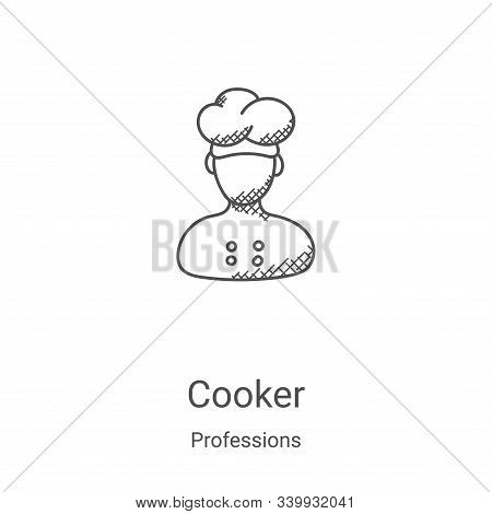 cooker icon isolated on white background from professions collection. cooker icon trendy and modern