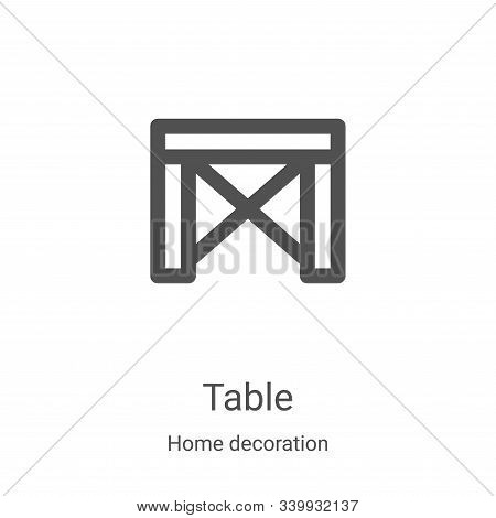 table icon isolated on white background from home decoration collection. table icon trendy and moder