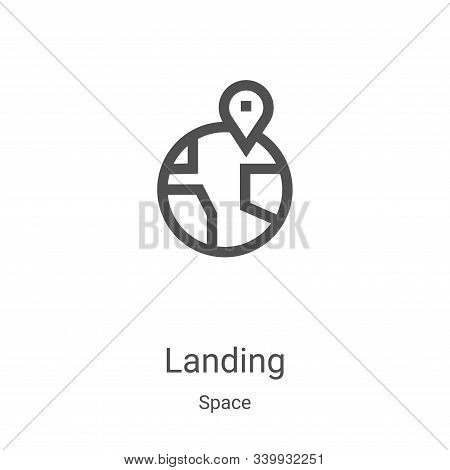 landing icon isolated on white background from space collection. landing icon trendy and modern land
