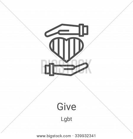 give icon isolated on white background from lgbt collection. give icon trendy and modern give symbol