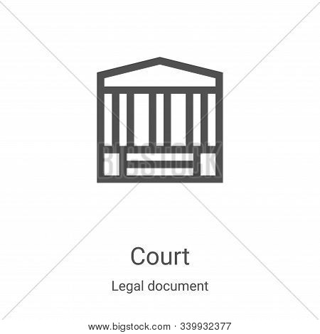 court icon isolated on white background from legal document collection. court icon trendy and modern