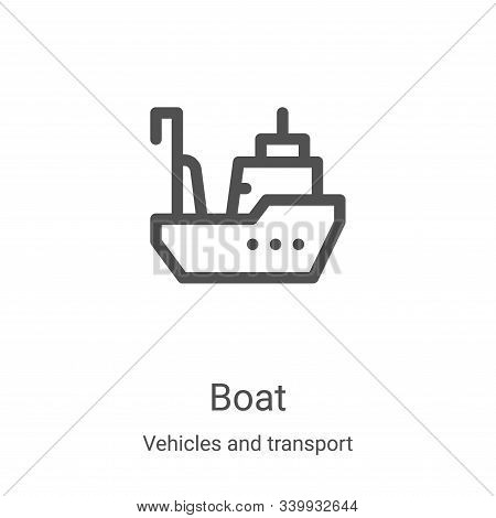 boat icon isolated on white background from vehicles and transport collection. boat icon trendy and