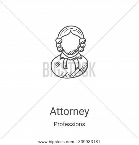 attorney icon isolated on white background from professions collection. attorney icon trendy and mod