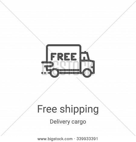 free shipping icon isolated on white background from delivery cargo collection. free shipping icon t