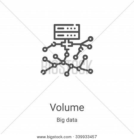 volume icon isolated on white background from big data collection. volume icon trendy and modern vol