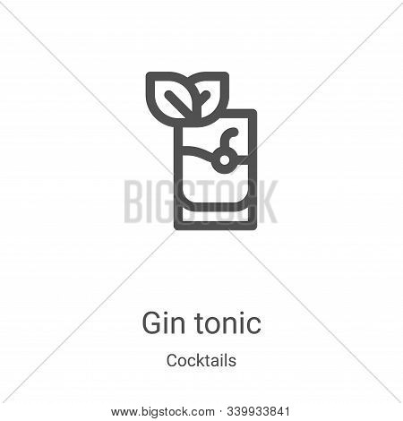 gin tonic icon isolated on white background from cocktails collection. gin tonic icon trendy and mod