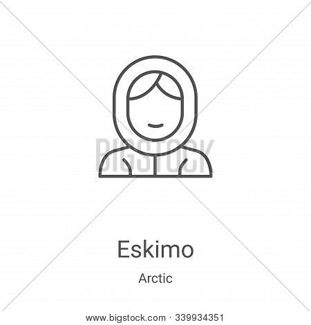 eskimo icon isolated on white background from arctic collection. eskimo icon trendy and modern eskim
