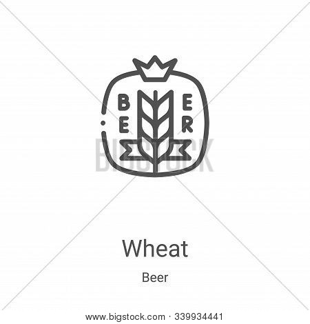 wheat icon isolated on white background from beer collection. wheat icon trendy and modern wheat sym