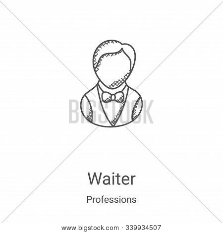 waiter icon isolated on white background from professions collection. waiter icon trendy and modern