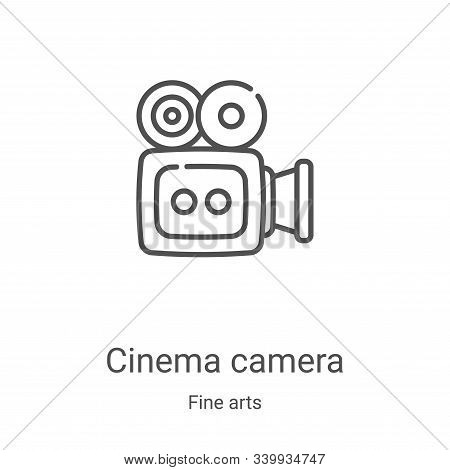 cinema camera icon isolated on white background from fine arts collection. cinema camera icon trendy