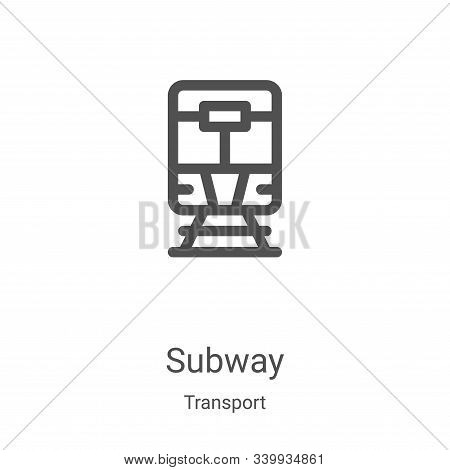 subway icon isolated on white background from transport collection. subway icon trendy and modern su