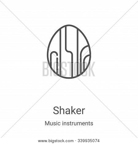shaker icon isolated on white background from music instruments collection. shaker icon trendy and m