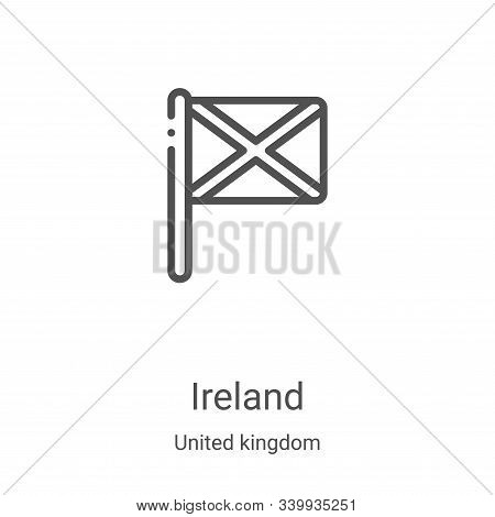 ireland icon isolated on white background from united kingdom collection. ireland icon trendy and mo