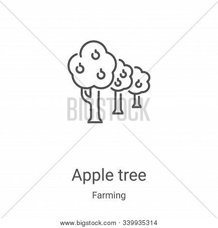 apple tree icon isolated on white background from farming collection. apple tree icon trendy and mod
