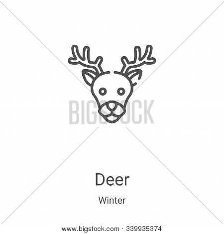deer icon isolated on white background from winter collection. deer icon trendy and modern deer symb