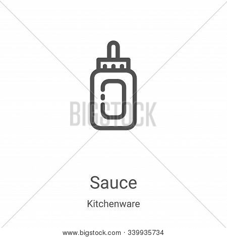 sauce icon isolated on white background from kitchenware collection. sauce icon trendy and modern sa