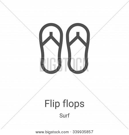 flip flops icon isolated on white background from surf collection. flip flops icon trendy and modern