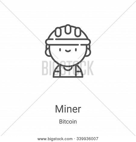 miner icon isolated on white background from bitcoin collection. miner icon trendy and modern miner